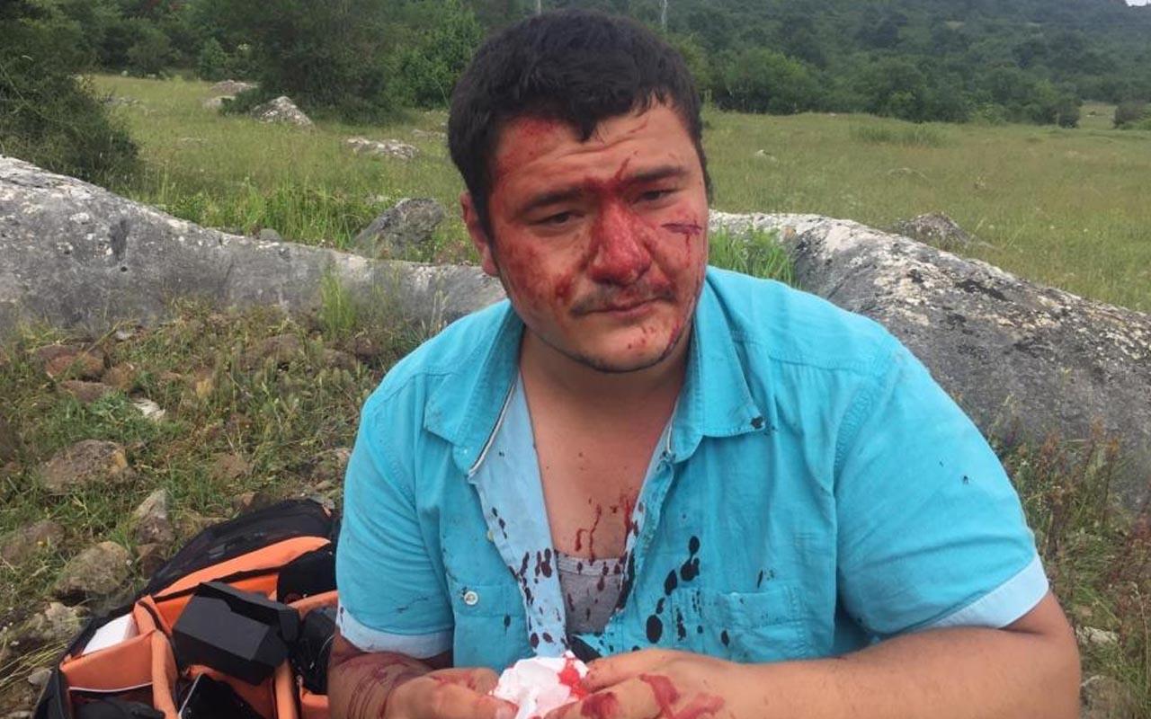İYİ Partili Lütfü Türkkan'ın şoförüyle birlikte 4 adamı İHA muhabirine saldırdı