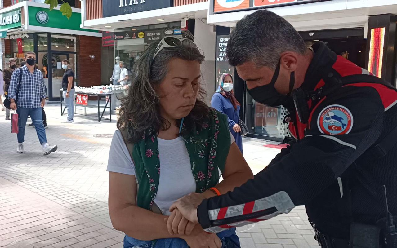 Bolu'da maske takmayı reddetti! Kadının polislere yanıtı pes dedirtti