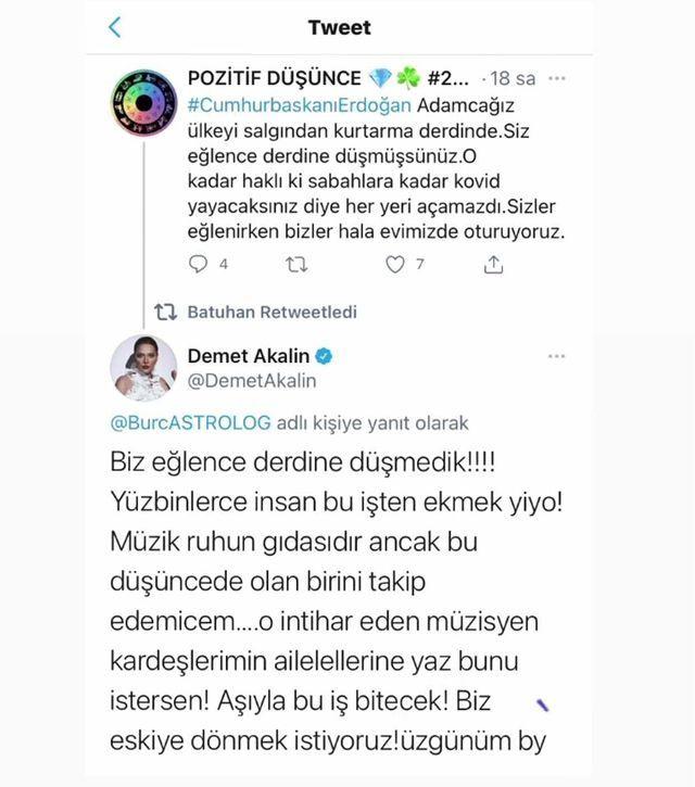 Demet Akalın'dan müzik kısıtlaması açıklaması! Twitter'da isyan etti!