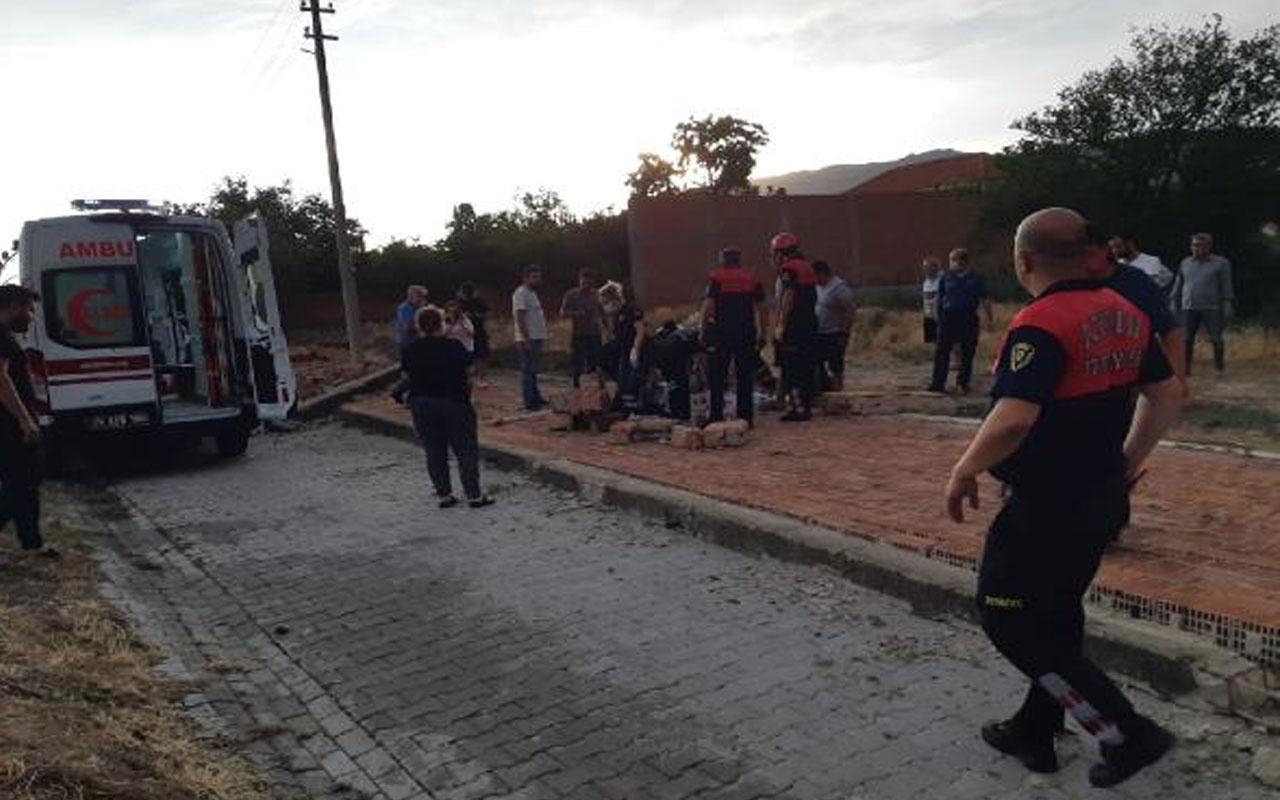Aydın'da feci olay! Fırtınanın yıktığı duvarın altında kalan kadın öldü