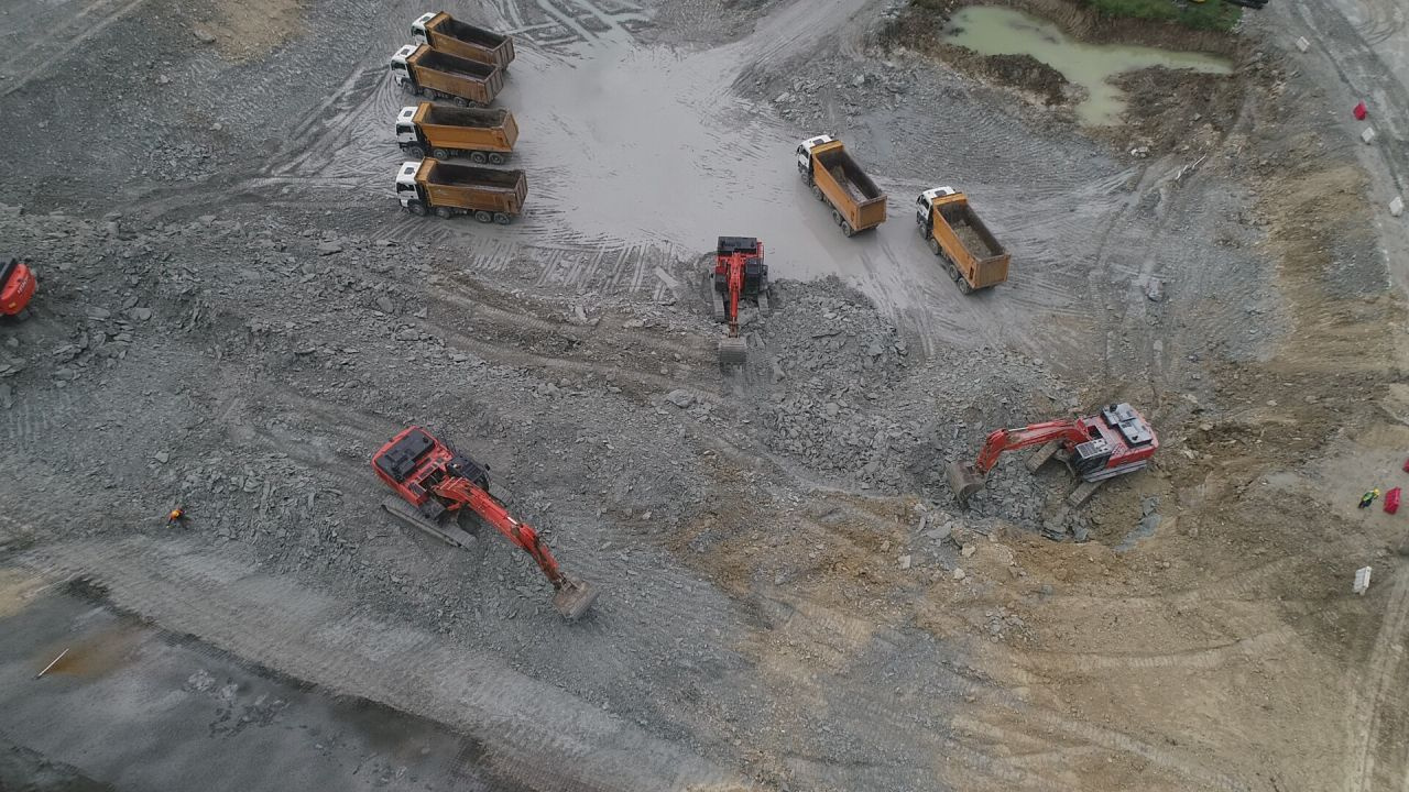 Kanal İstanbul temel atma töreni öncesi ilk kez havadan görüntülendi