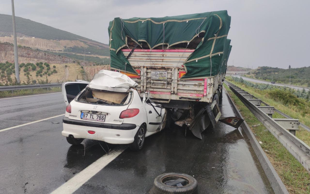 Bursa'da korkunç kaza! Lastik patladı sandı gerçeği öğrendi şok oldu