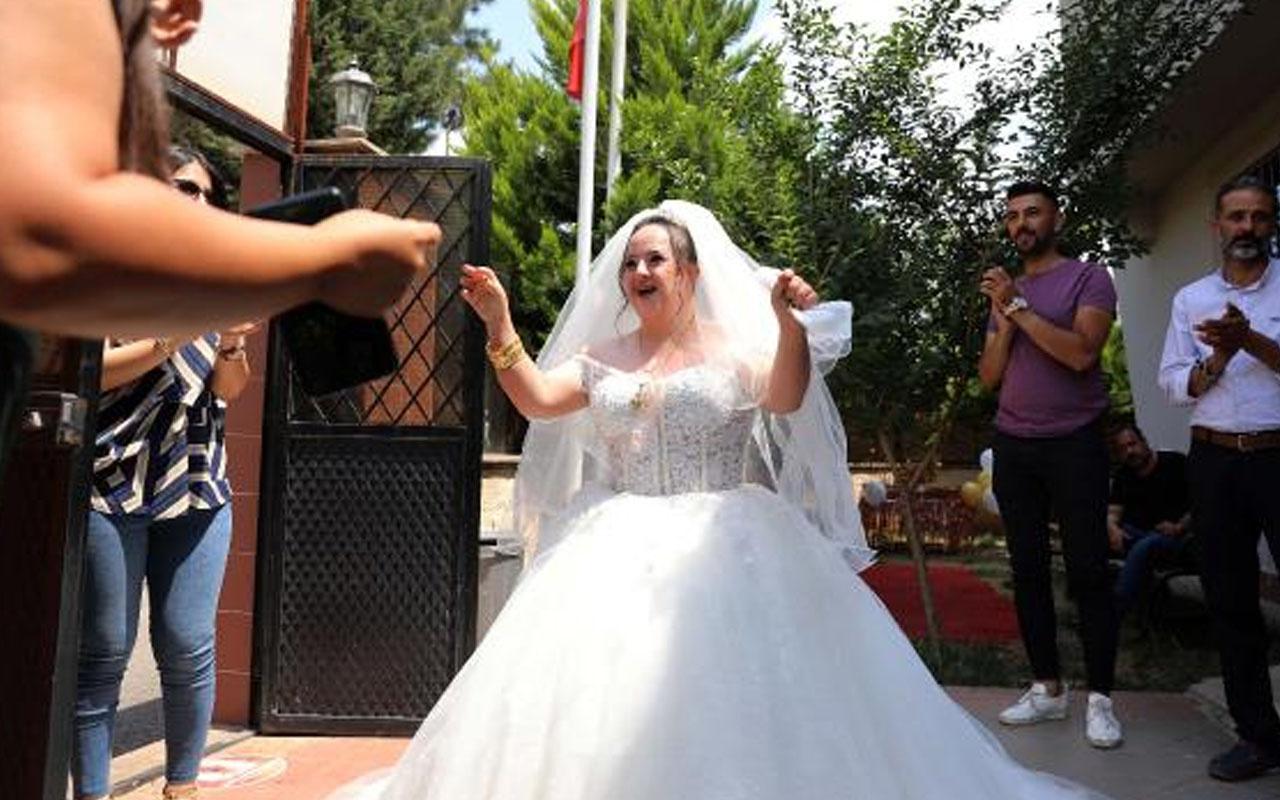 Down sendromlu Tuğba'nın mutluluğu: Gelinlik ve düğün hayali gerçeğe dönüştü