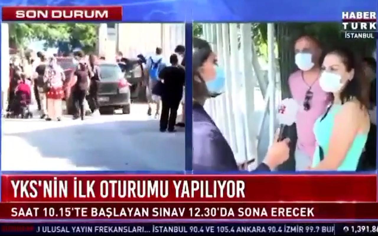 Habertürk TV'de canlı yayında sansür! O kelimeyi duyan muhabir mikrofonu çekti
