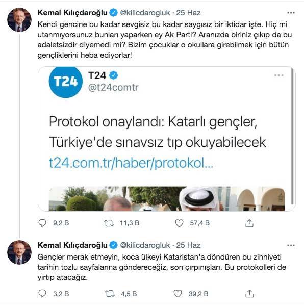 T24 özür diledi Kemal Kılıçdaroğlu olay tweeti halen silmedi - Internet Haber