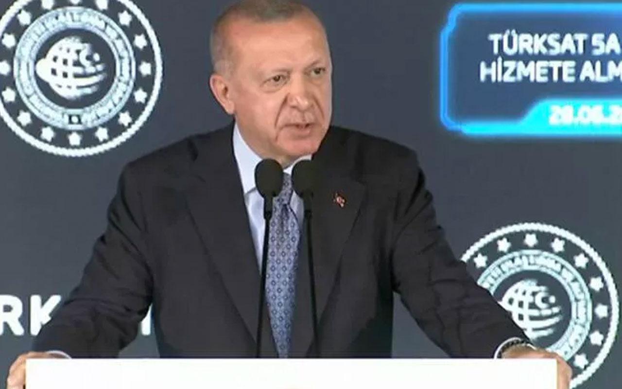 Cumhurbaşkanı Erdoğan TÜRKSAT 5A töreninde önemli açıklamalar! 15 kat artacak