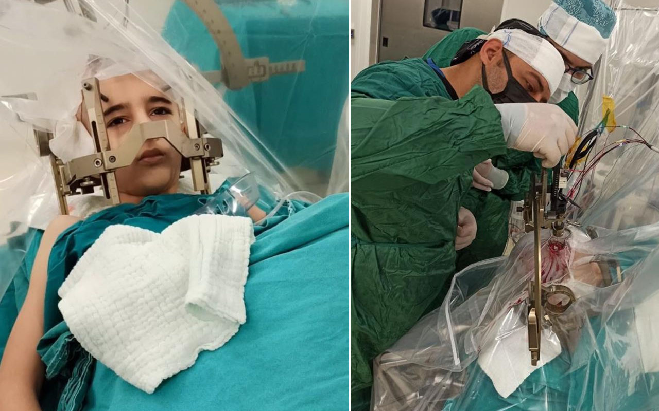 Türkiye'de bir ilk Elazığ'da gerçekleşti: Çocuk hastaya uyanıkken beyin pili takıldı