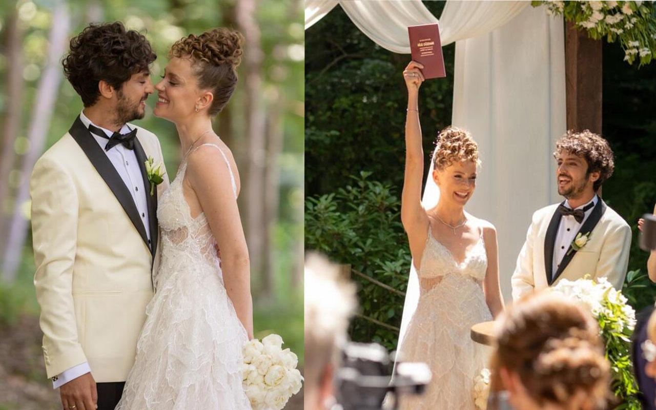'Mucize Doktor Ali' evlendi! Taner Ölmez ve Ece Çeşmioğlu düğününden ilk görüntüler...
