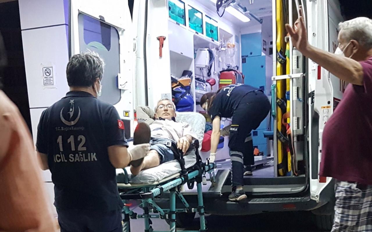 Sapanca'da evinin bahçesinde yorgun mermiyle yaralandı
