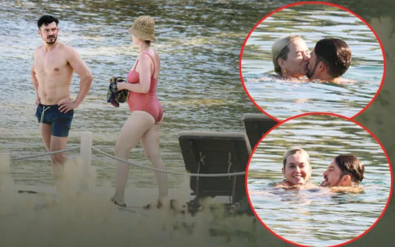 Katy Perry Orlando Bloom Bodrum'da aşka geldiler! Öpmeye doyamadı