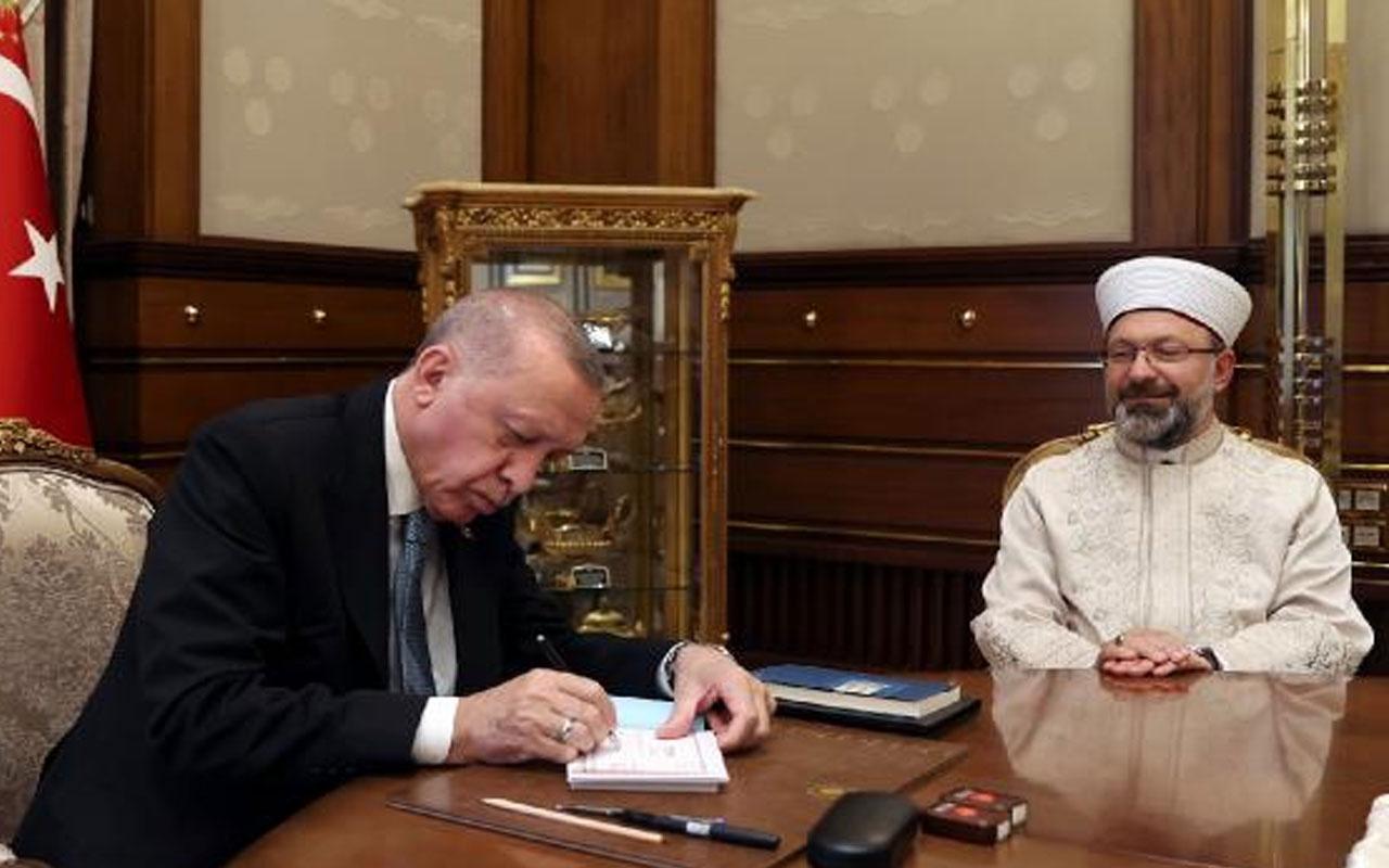 Cumhurbaşkanı Erdoğan, Türkiye Diyanet Vakfı'na kurban bağışında bulundu