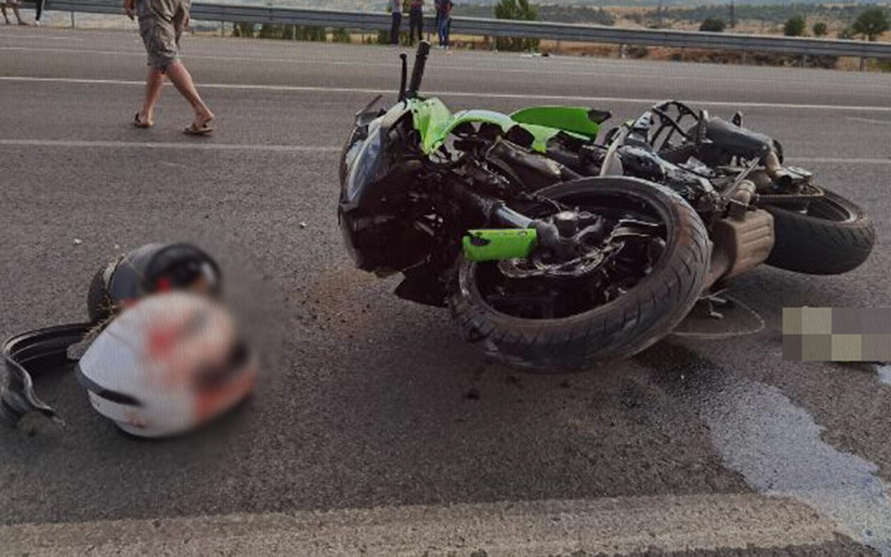 Tunceli'de bir kişinin motosiklet kazasında kolu toptu