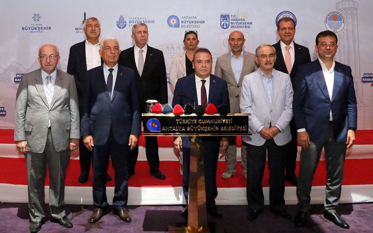 CHP'li 11 büyükşehir belediye başkanından Cumhurbaşkanı Erdoğan'a ortak çağrı