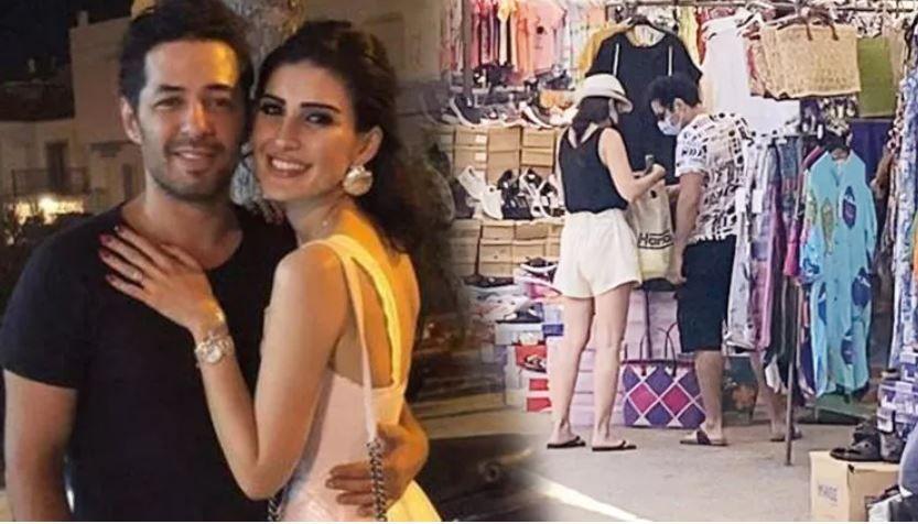 Mert Fırat ve eşi İdil Fırat'ın Bodrum'da pazar turu: Bir parça 500 tl!