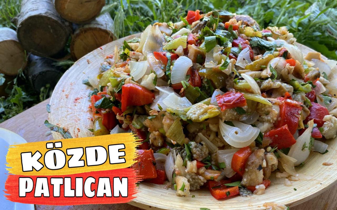 Kampta közlenmiş patlıcan salatası nasıl yapılır damağınıza layık!