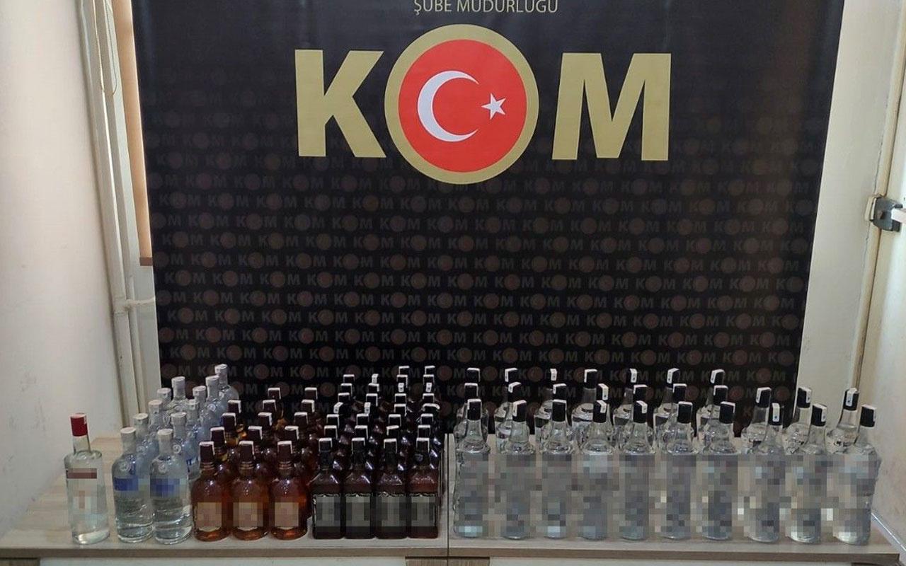 Tekirdağ'da 82 şişe kaçak içki daha ele geçirildi