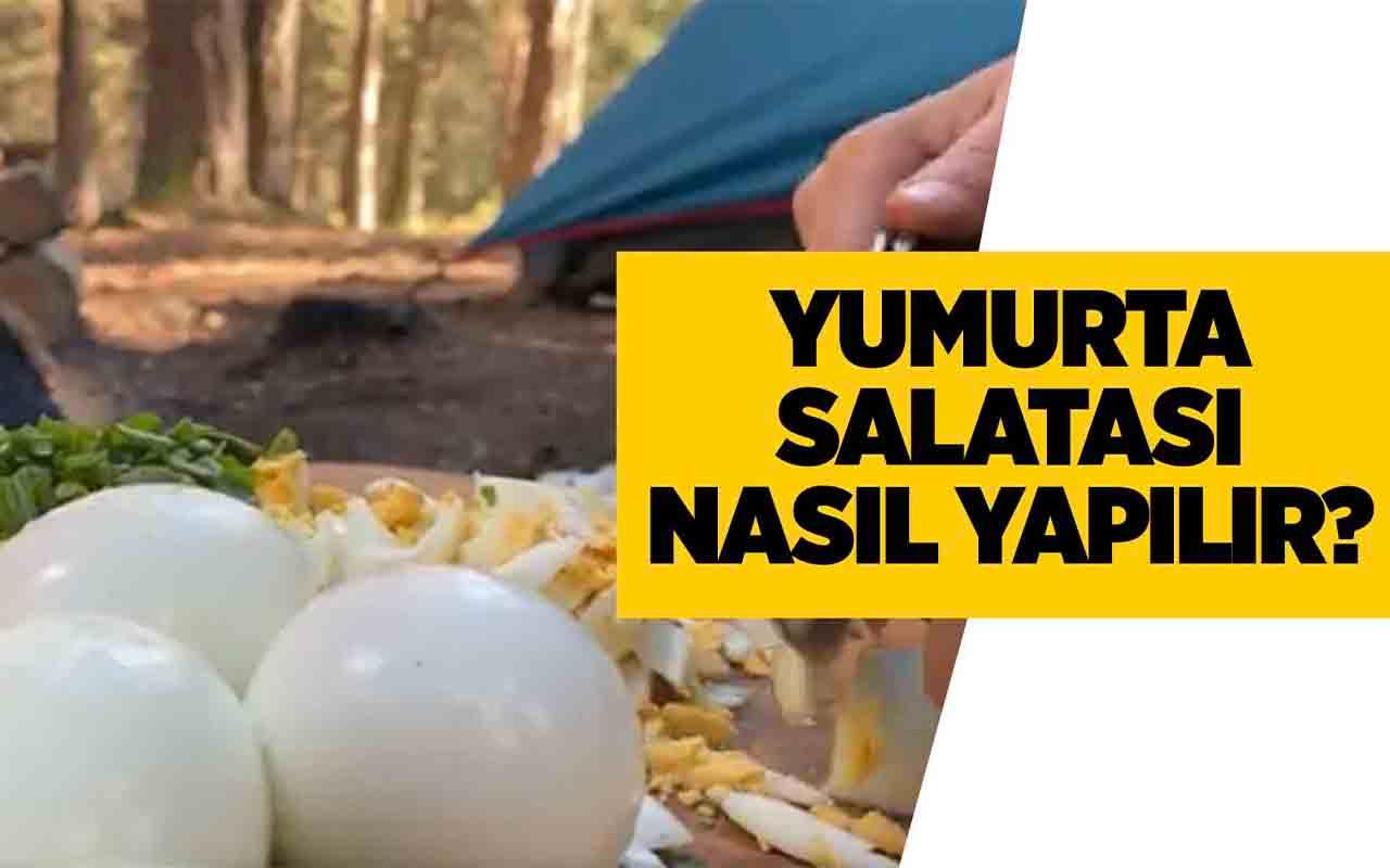 Kampta yumurta salatası nasıl yapılır tadına bayılacaksınız!