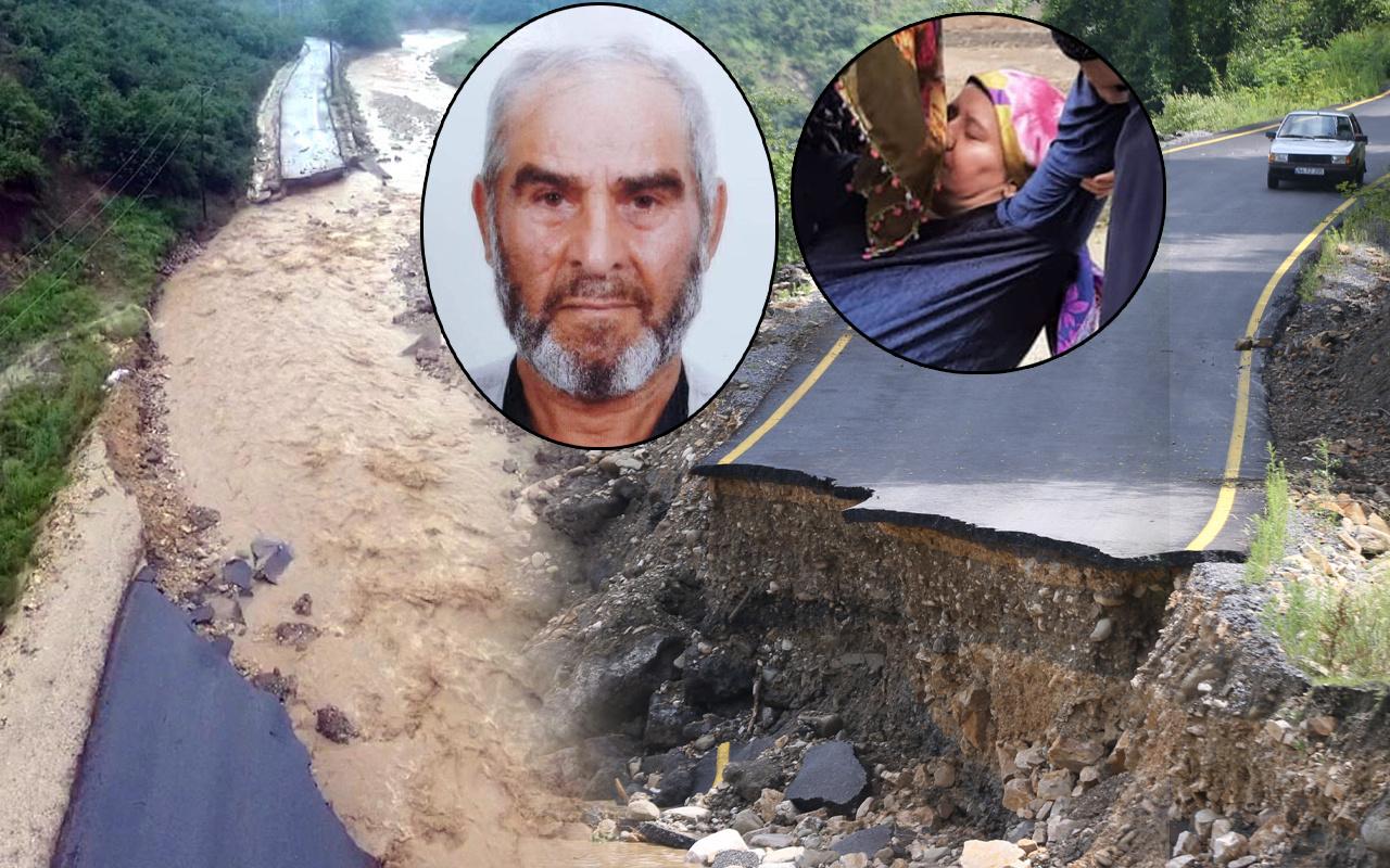 Dereler taştı yollar ve köprü çöktü! Selde kayıp var Düzce Zonguldak Sakarya'da hayat durdu