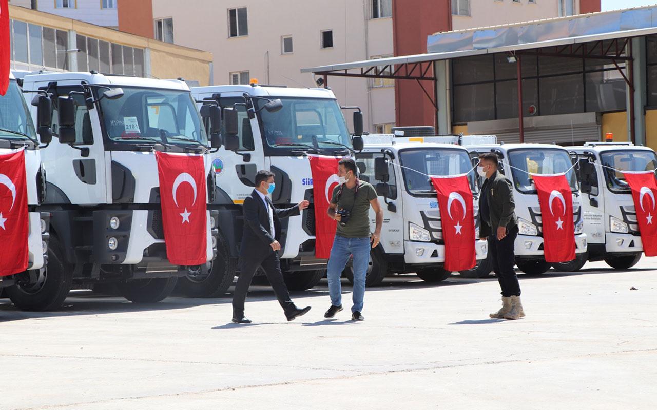 Çevre ve Şehircilik Bakanlığı Siirt ve iki ilçe belediyesine 9 araç hibe etti