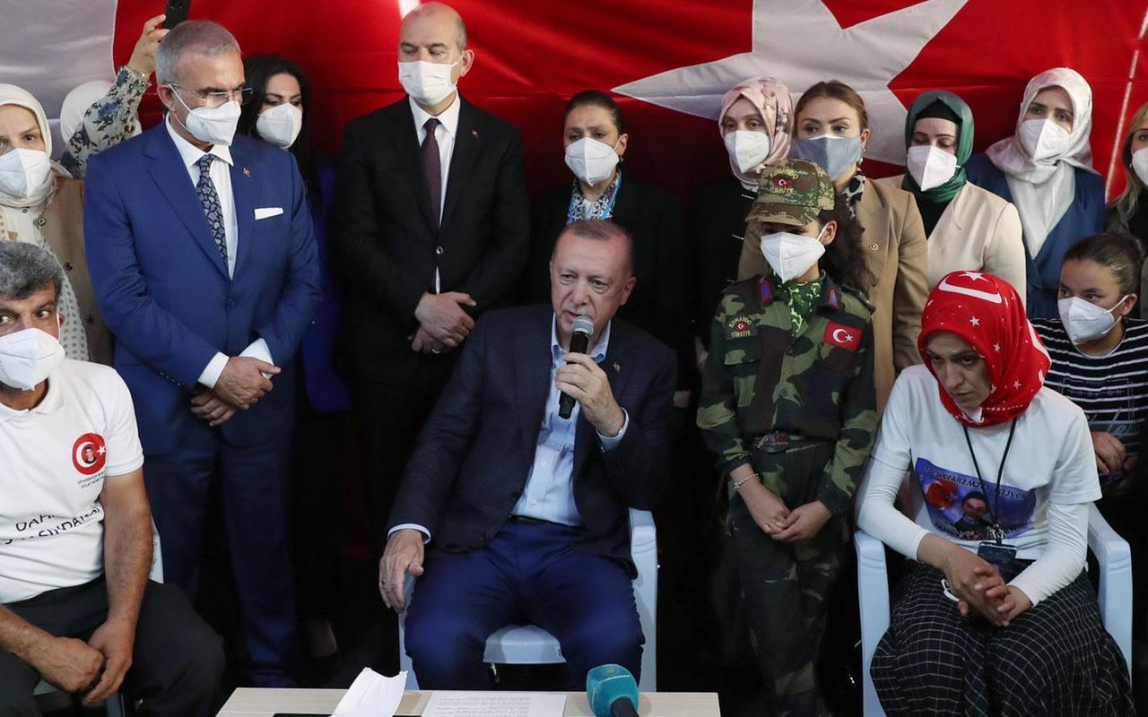 Cumhurbaşkanı Erdoğan, Diyarbakır Anneleri'ni ziyaret etti