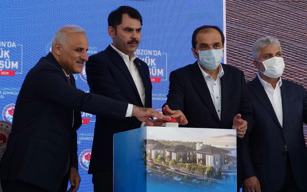 Trabzon'da büyük dönüşüm Bakan Murat Kurum temel atma törenine katıldı