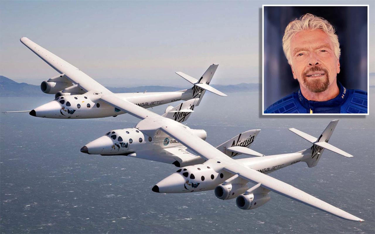 İngiliz iş adamı Richard Branson uzaya seyahat etti