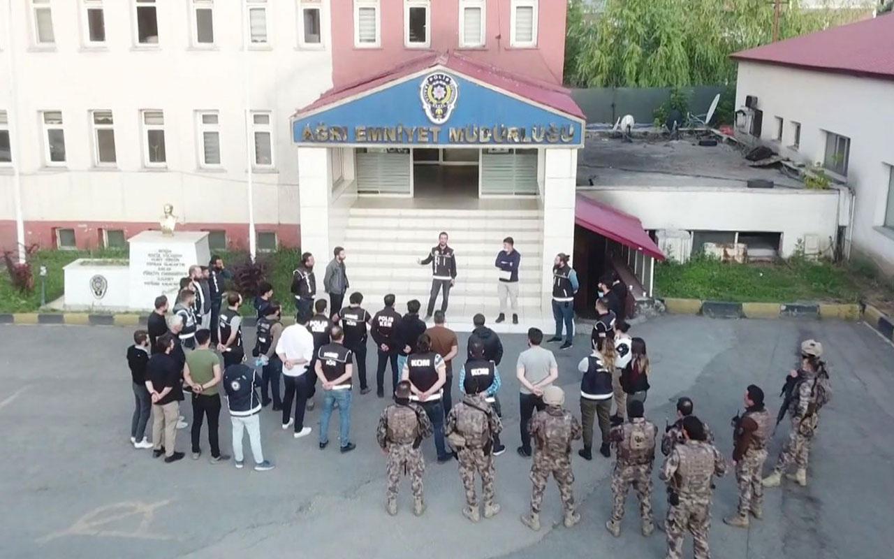 Ağrı'da torbacılara şafak operasyonu: 6 tutuklama