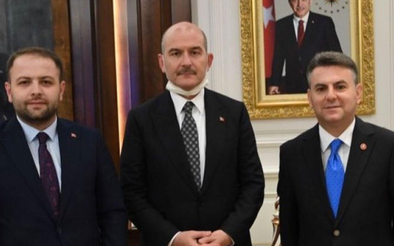 Korkmaz Karaca'dan Bakan Süleyman Soylu'ya ziyaret