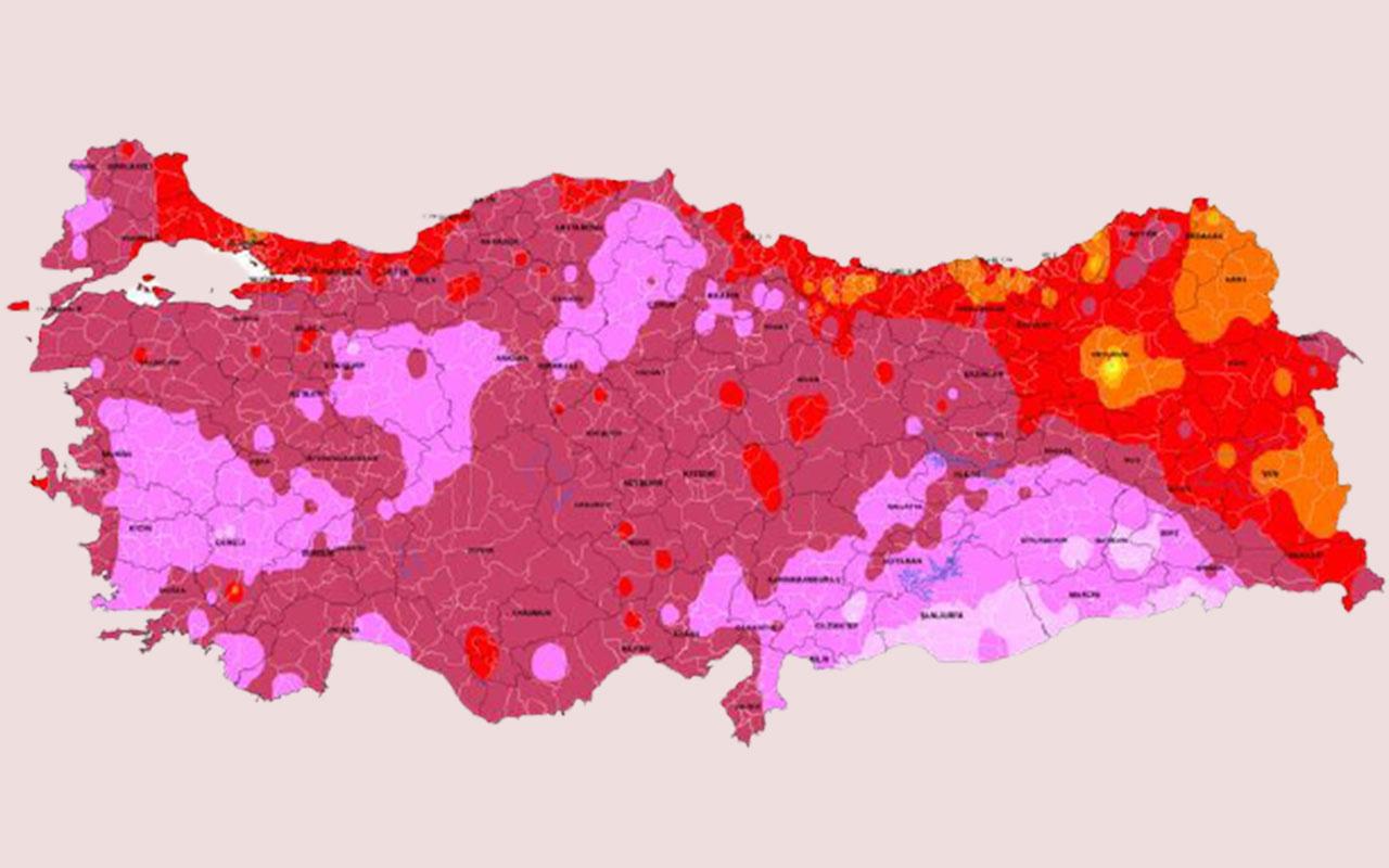 Meteorolojiden son uyarı: Kavrulacağız! Gün gün sıcaklık haritası yayınlandı mor bölgeler çok dikkat