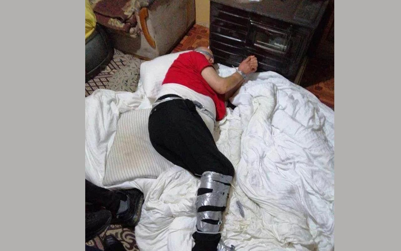 Ellerini ayaklarını bağlayıp günlerce aç bıraktılar! Denizli'de iş adamının kaçırıldığı ev görüntülendi