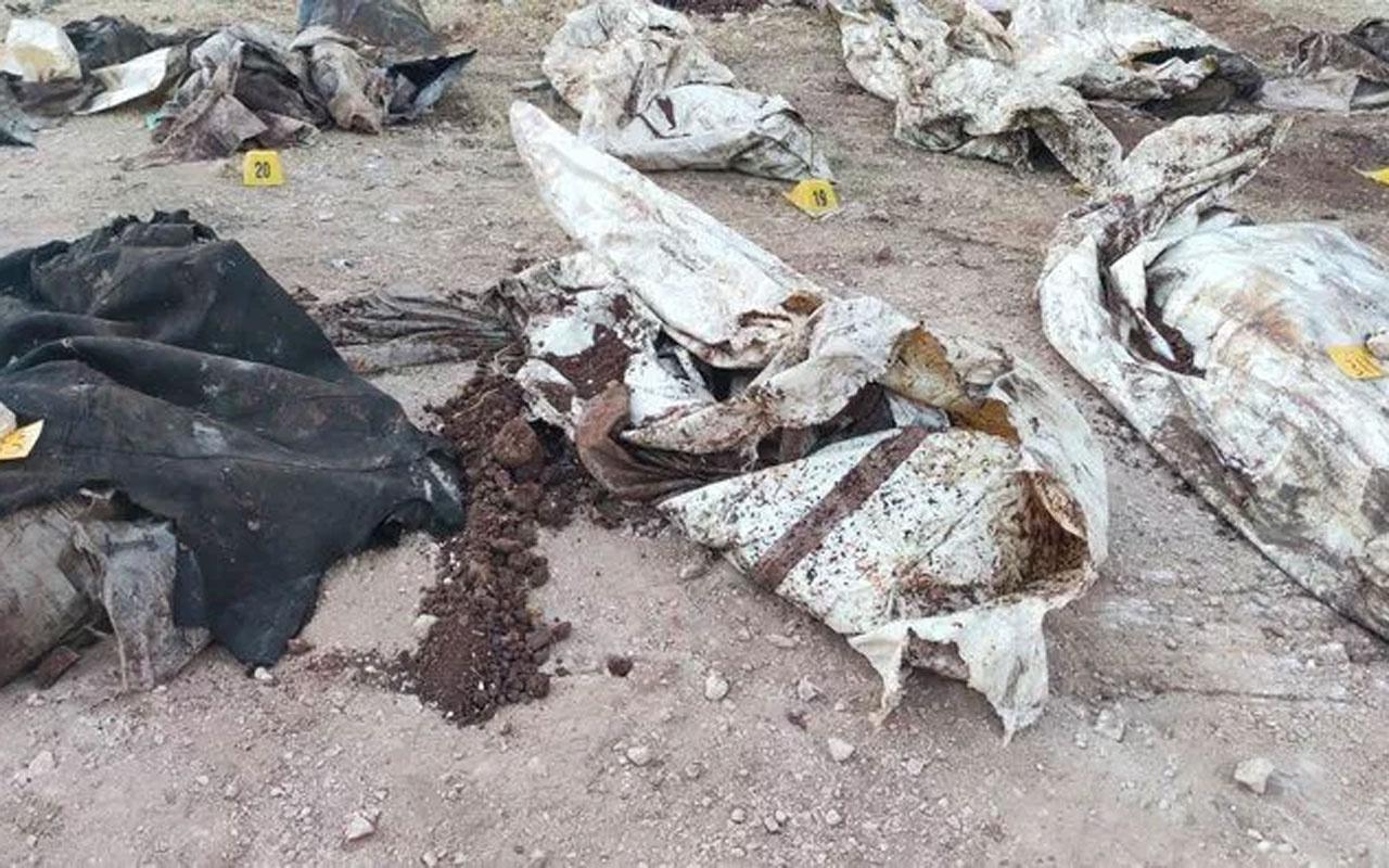 Afrin'de toplu mezar bulundu! PKK'nın 35 sivili katledip çuvallarla toplu mezara gömmüş