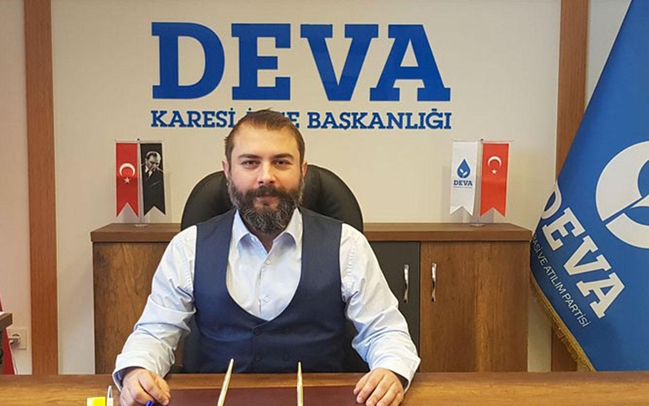 Deva Partisi Balıkesir Karesi İlçe Başkanı Onur Ayan'dan HDP'ye yakınlaşma istifası