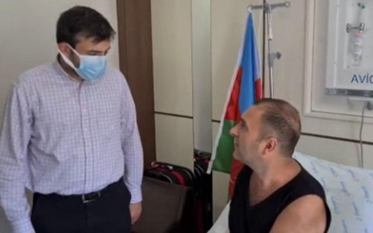 Selçuk Bayraktar tedavi gören Karabağ gazisini ziyaret etti