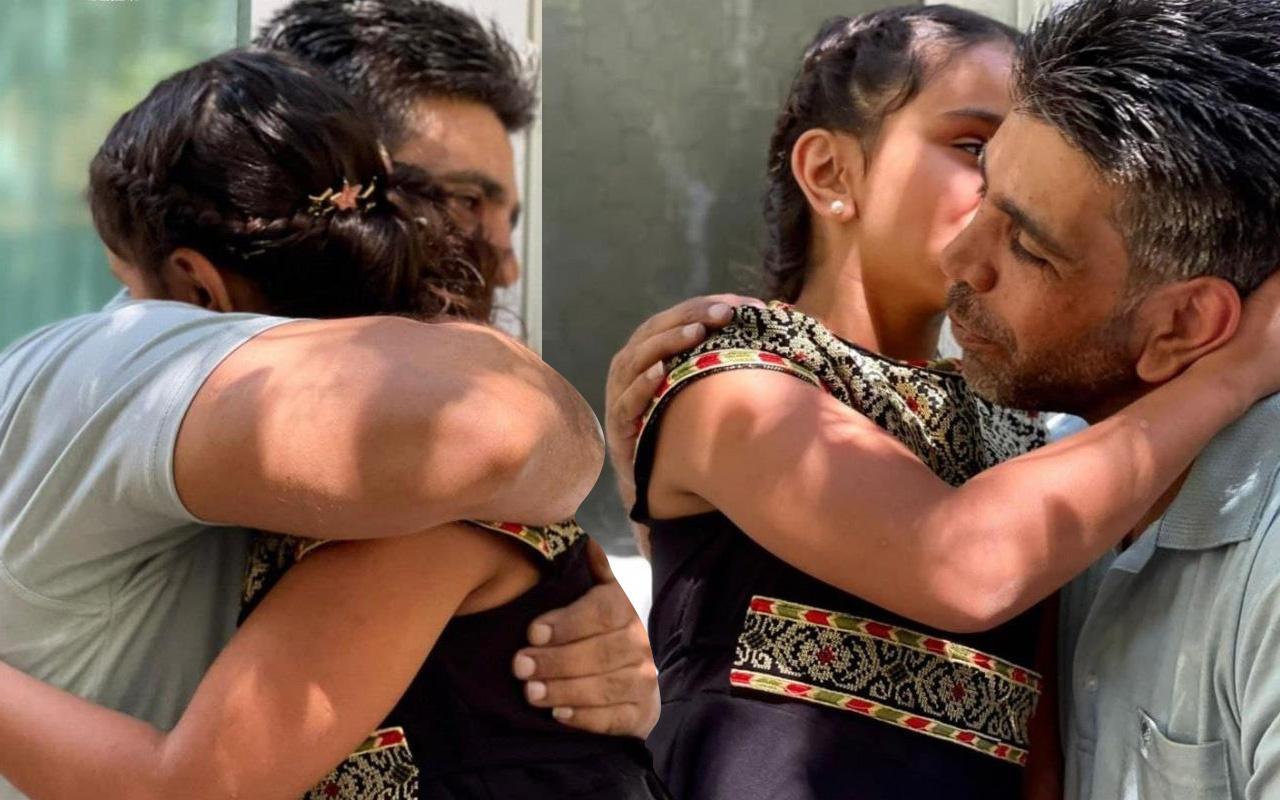 Babasıyla ilk kez görüştü! Filistin'de görenleri duygulandıran görüntü