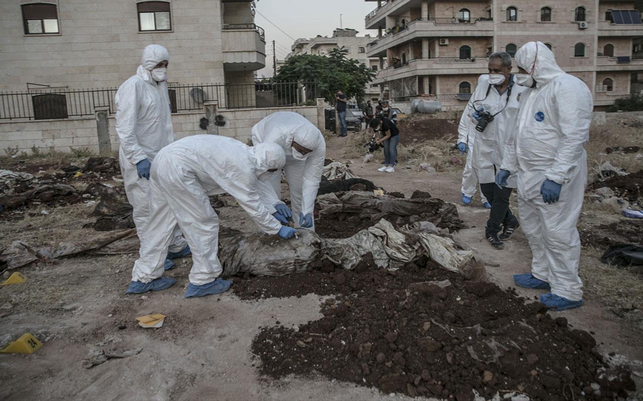 Afrin'de toplu mezardan çıkarılan ceset sayısı 61'e yükseldi