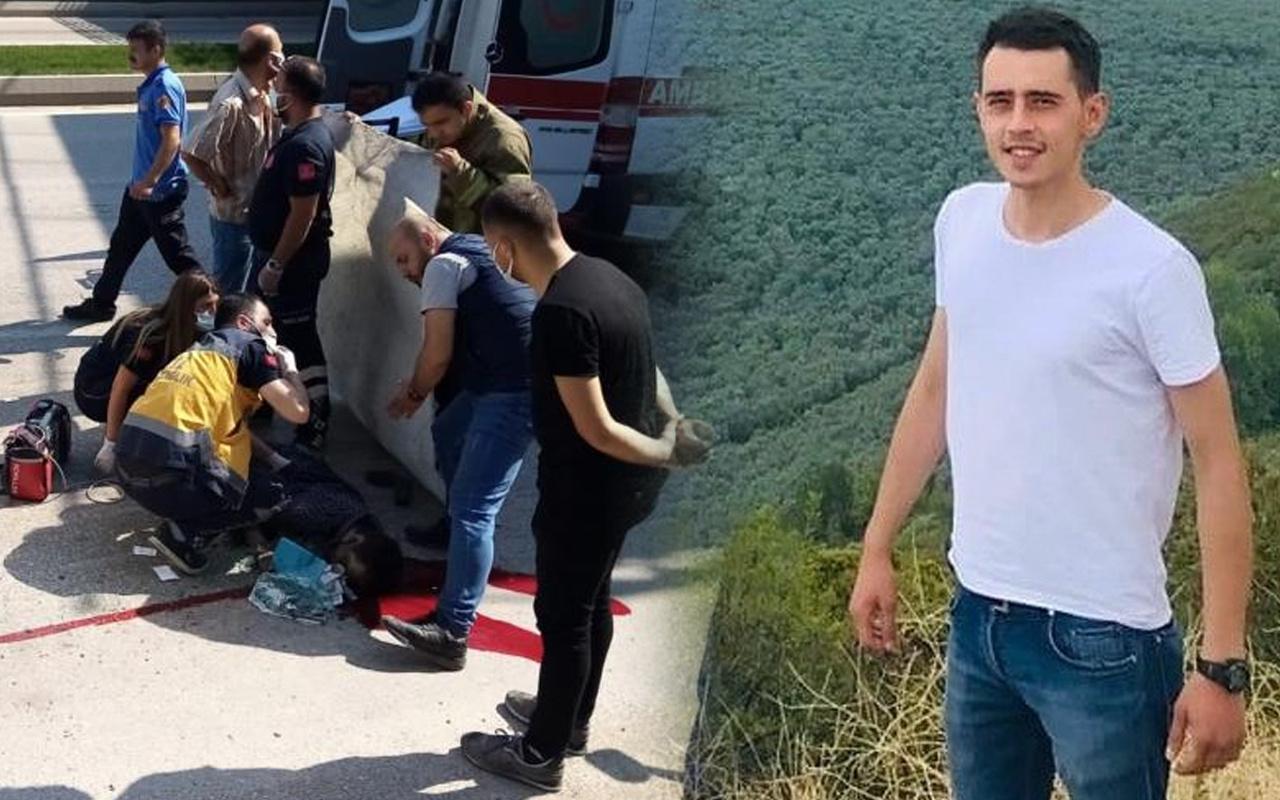 Bursa'da korkunç kaza! Camdan fırladı feci şekilde can verdi