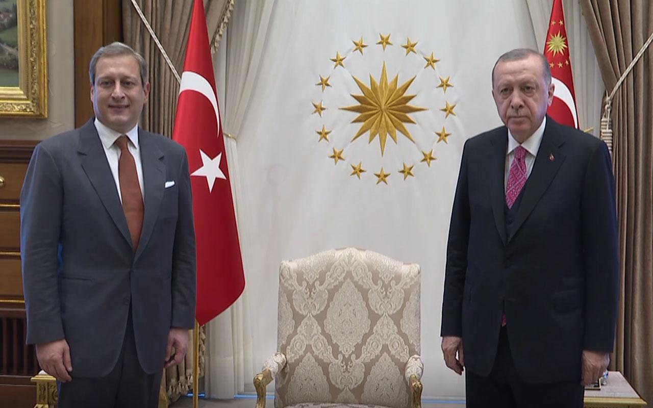 Cumhurbaşkanı Erdoğan Galatasaray Kulübü Başkanı Burak Elmas'ı kabul etti