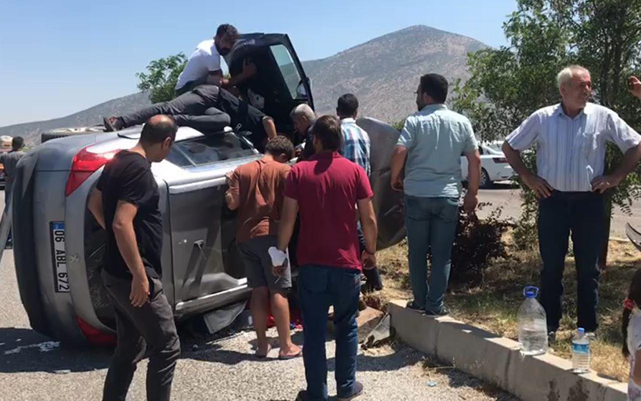 Denizli'de feci kaza! Araç yan yatıp metrelerce sürüklendi: Yaralılar var