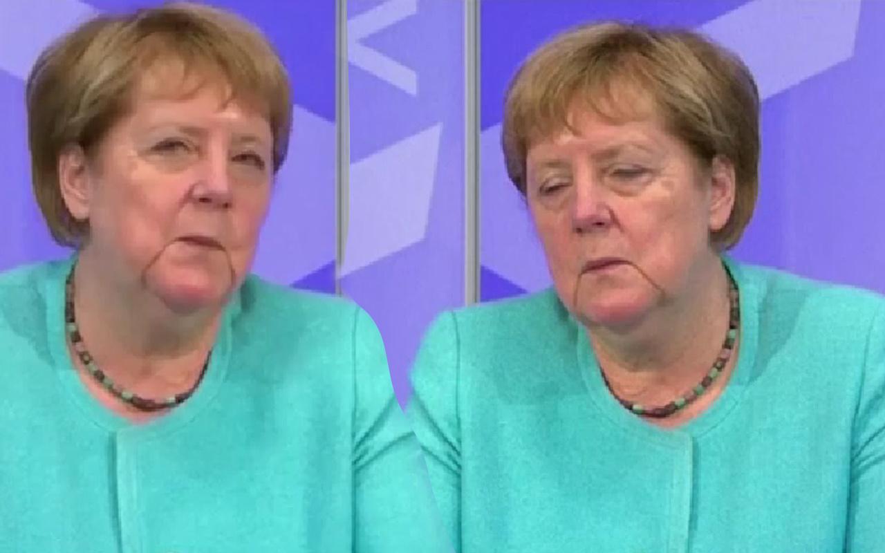 Almanya Başbakanı Angela Merkel'in zor anları! Tüm ülke canlı yayında izledi