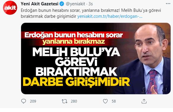 Akit, Melih Bulu'nun Boğaziçi rektörlüğünden alınmasını 'darbe girişimi' saydı - Internet Haber