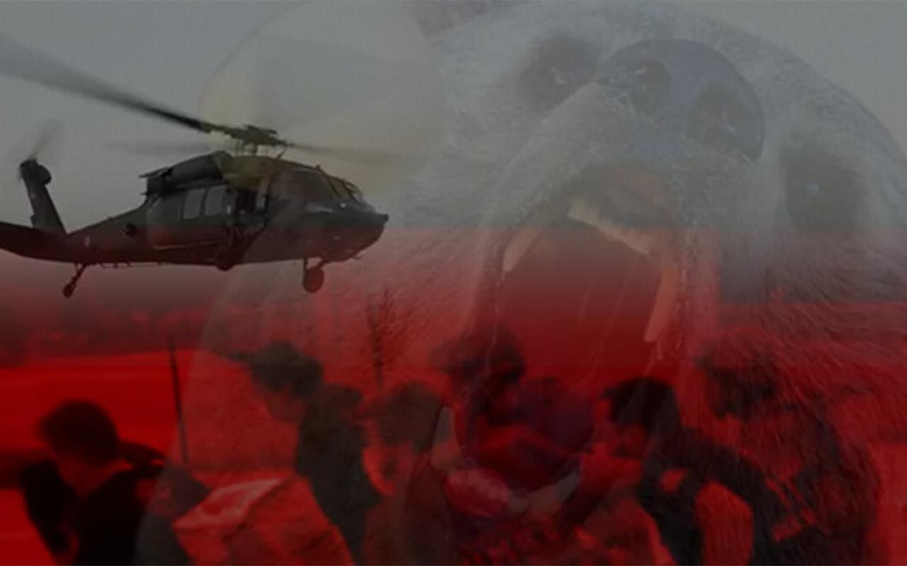 Tunceli'de askeri helikopter ayı saldırısına uğrayan turist için havalandı