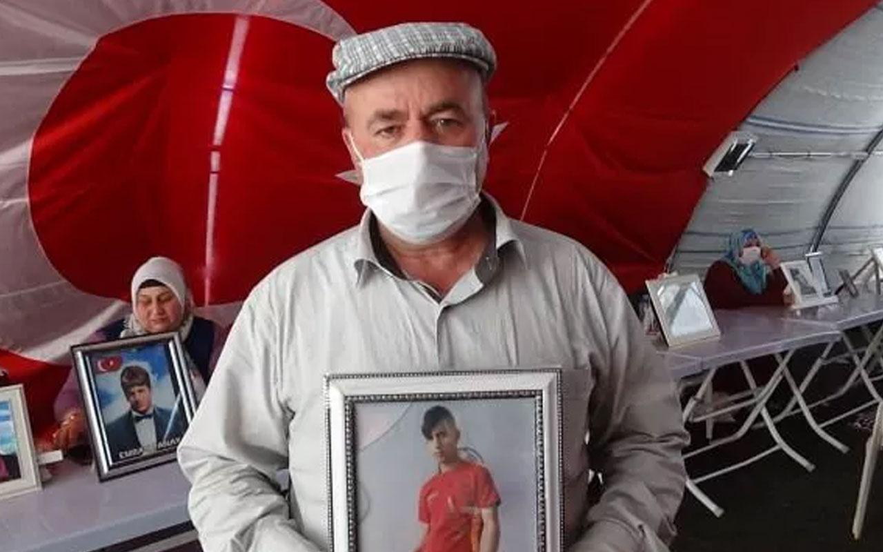Diyarbakır'da evlat nöbetindeki babadan oğluna çağrı: Teslim olun