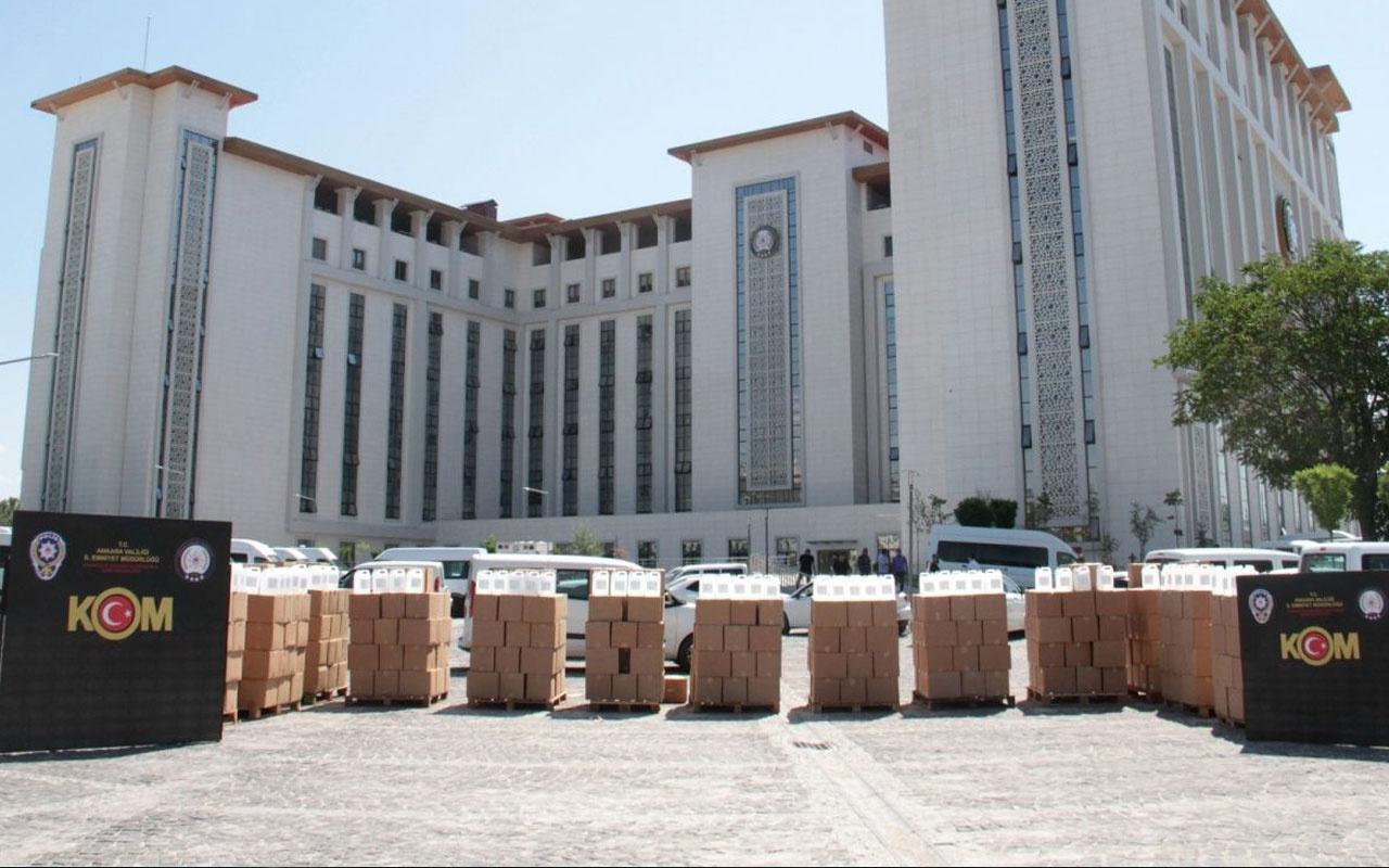 Ankara'da 12 bin litre sahte alkol ele geçirildi  3 şüpheli gözaltına alndı