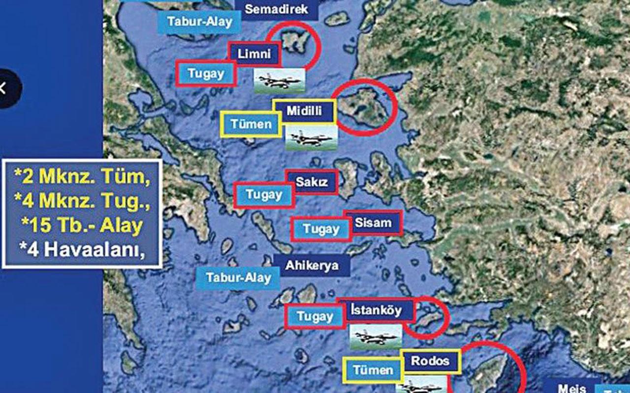 Yunanistan 21 adaya asker yerleştirdi ve silahlandırdı! Havaalanı bile inşa etti