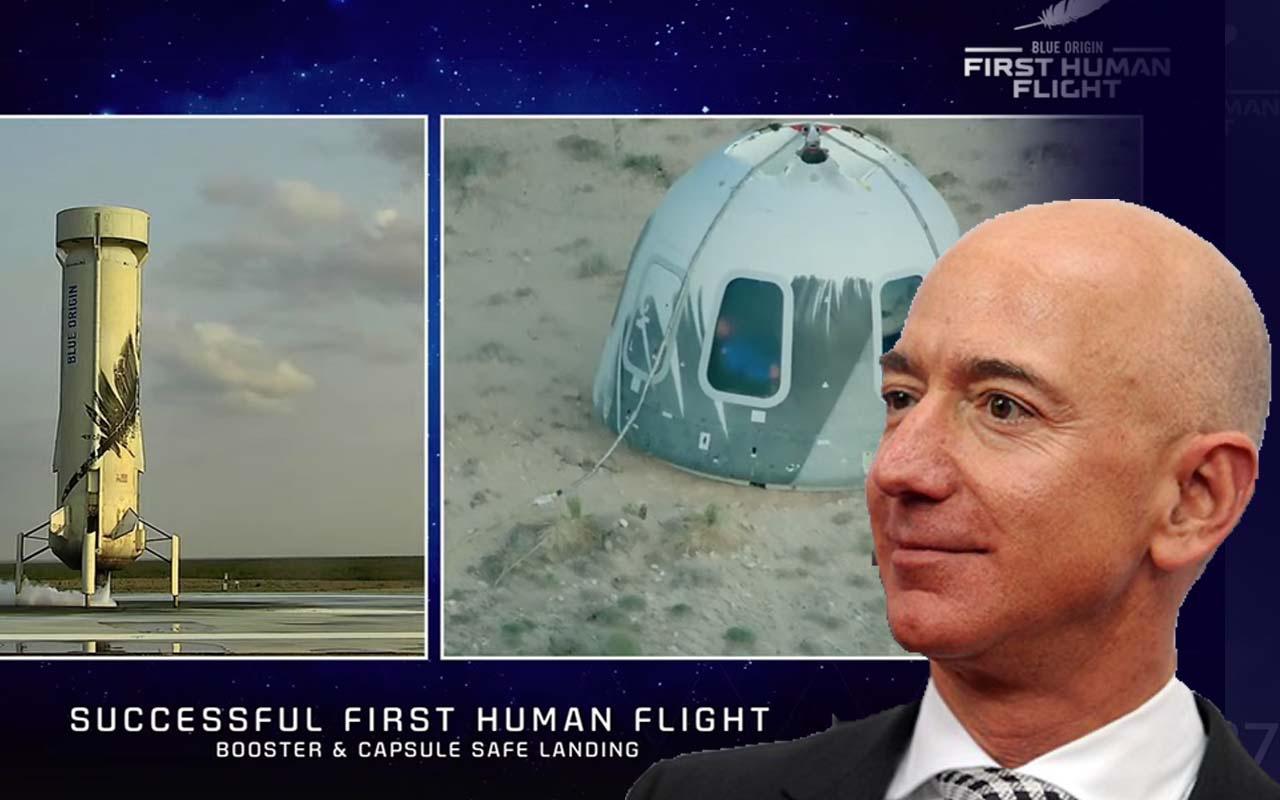 Tarihi uçuş gerçekleşti Jeff Bezos uzaya gitti!