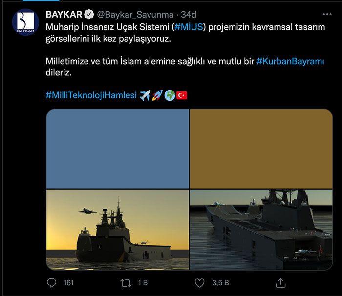 Baykar'dan 'bayram' müjdesi! Muharip İnsansız Uçak Sistemi'ne ait görselleri paylaştı