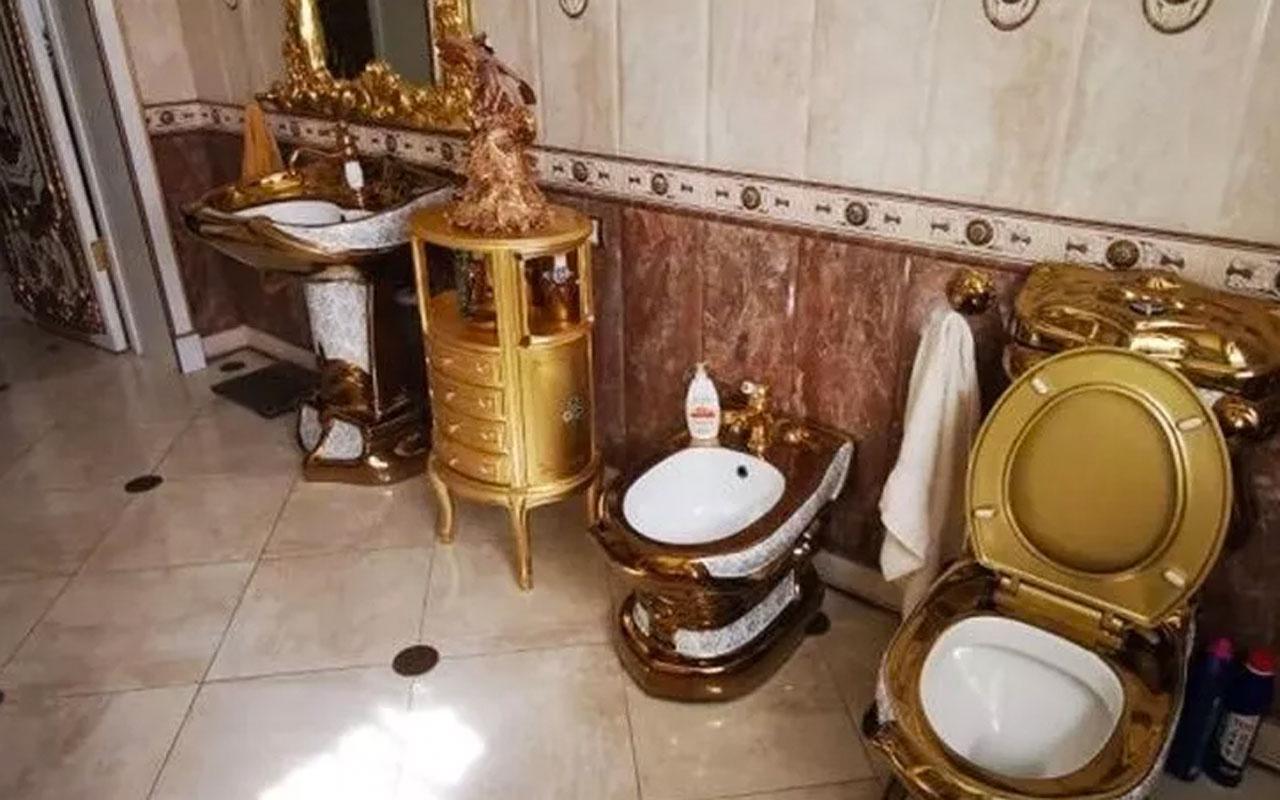 Rus trafik polisinin evinden altın kaplama tuvalet çıktı