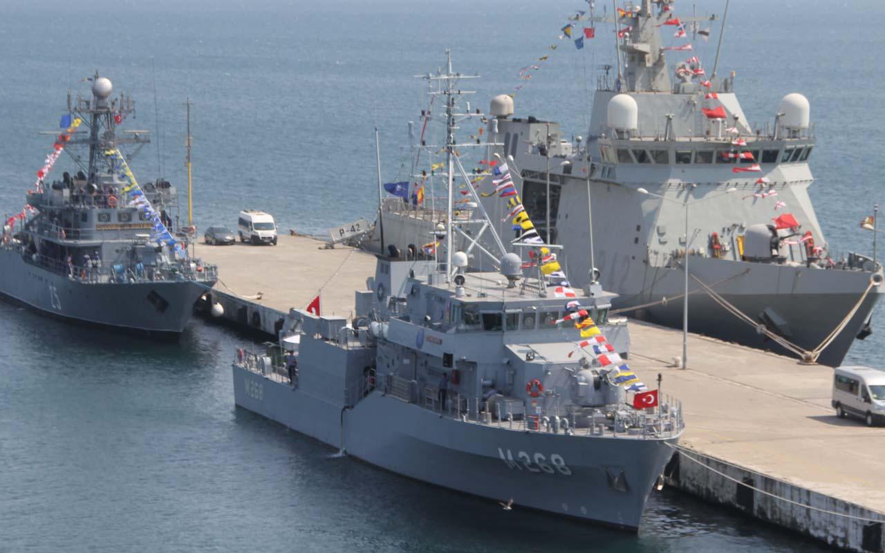 NATO gemileri Sinop'a demirledi! Üç ülkeye ait gemiler görevde