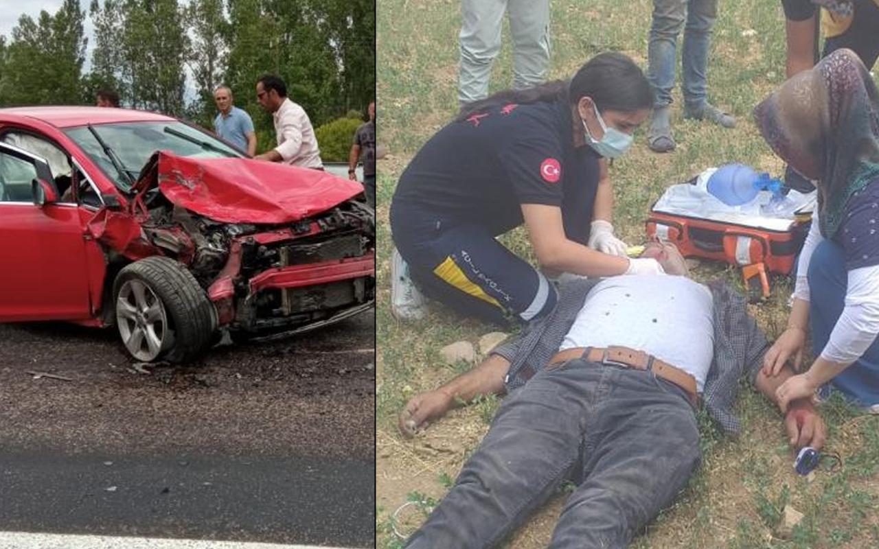 Gümüşhane'de feci kazada can pazarı! İki araç kafa kafaya çarpıştı