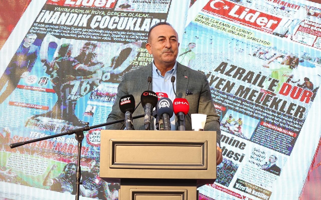 Bakan Çavuşoğlu'ndan Kıbrıs Rum Kesimi'ne sert sözler: İnsanda biraz utanma olur!